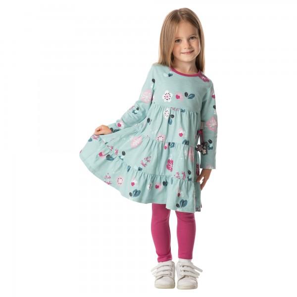 Volant Kleid mit Blümchen Allover Print