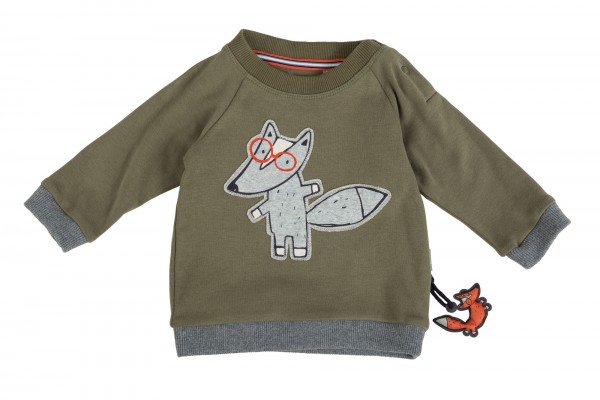 Witziges Jungen Langarmshirt mit Fuchs-Motiv