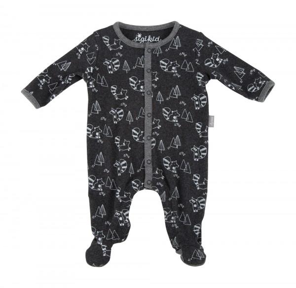Kuscheliger Baby Strampler in grau