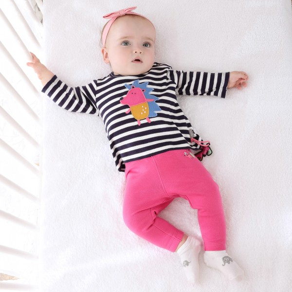 Pinke Babyleggings