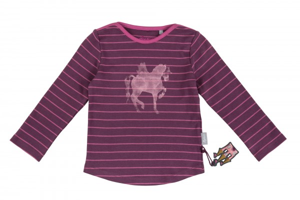 Ringelbequemes Langarmshirt in lila