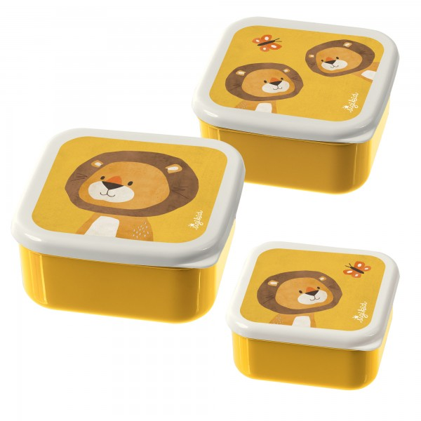 Snackboxen Löwe 3er-Set