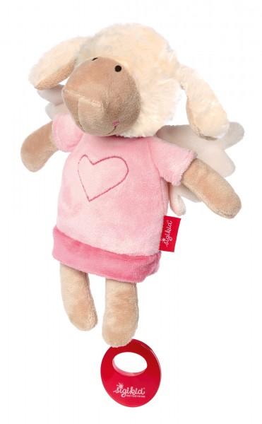 Spieluhr Schutzengel Schaf rosa