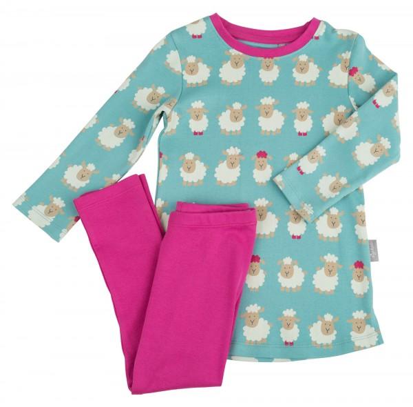Schäfchen Schlafanzug für Mädchen