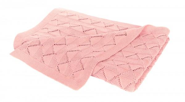Strickdecke Hygge rosa