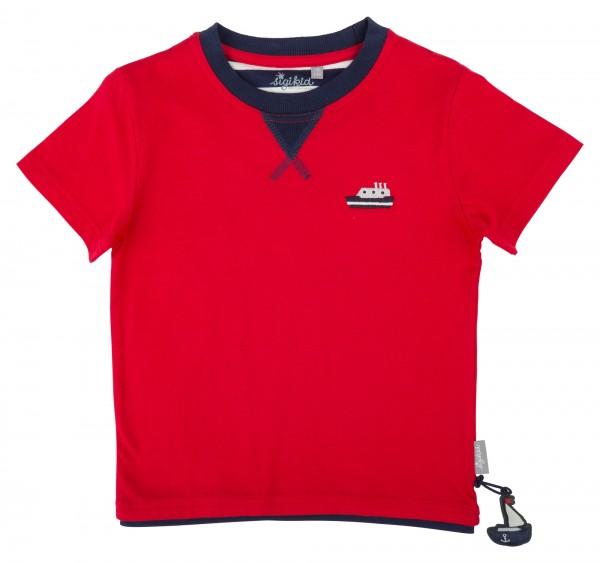 Klassisches Jungenshirt in Rot