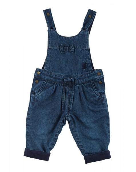 Gefütterte Jeans-Latzhose für Mädchen