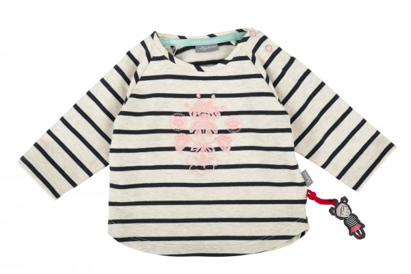Raglan Sweatshirt mit rosa Stickerei