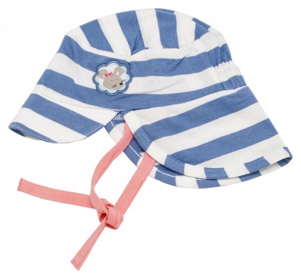 Gestreifte Sommermütze mit Nackenschutz