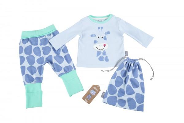 Baby Schlafanzug mit Giraffe