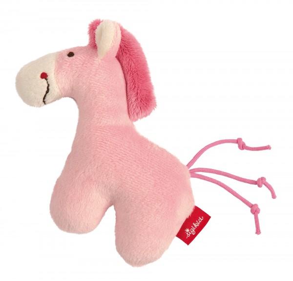Rassel Pferd pink Red Stars