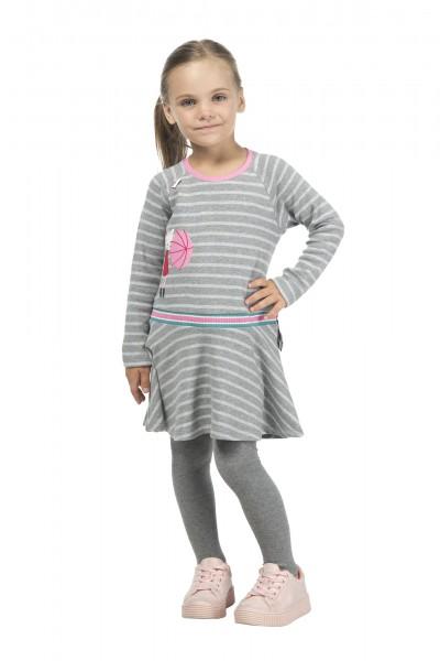 Mädchen Strumpfhose grau