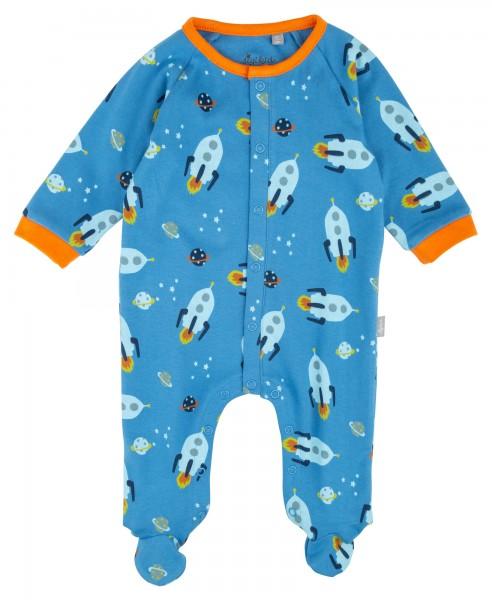 Baby Jungs Schlafoverall mit Raumschiff Print