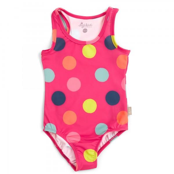Mädchen Badeanzug mit bunten Punkten