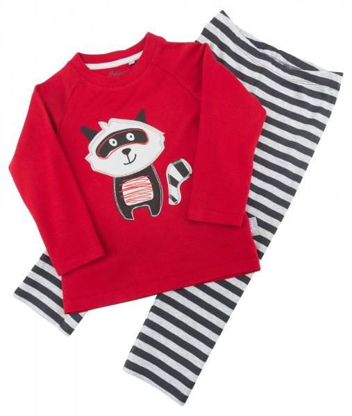 Schlafanzug für Jungen mit Waschbärmotiv