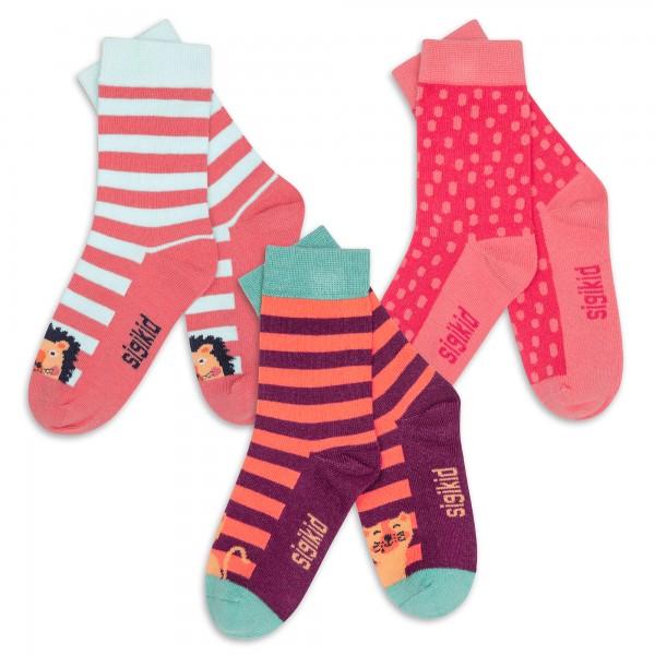 Girls' socks, 3-pair-set