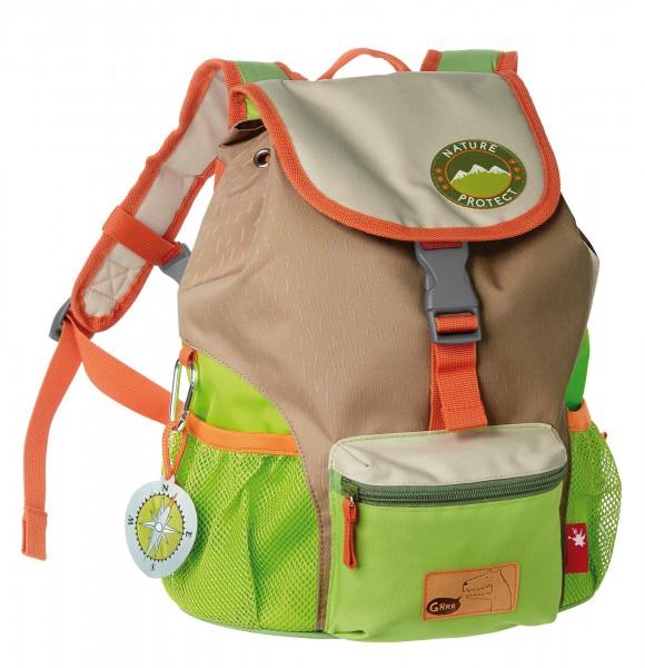 Kinder Rucksack braun-grün, Serie Forest Grizzly