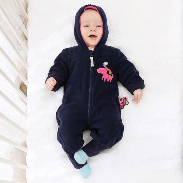 Baby Fleeceoverall dunkelblau