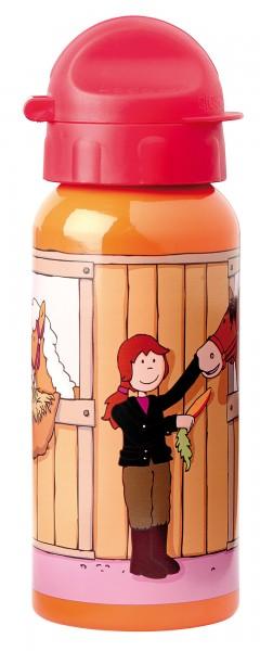 Kinder Trinkflasche rot mit Pony Sue