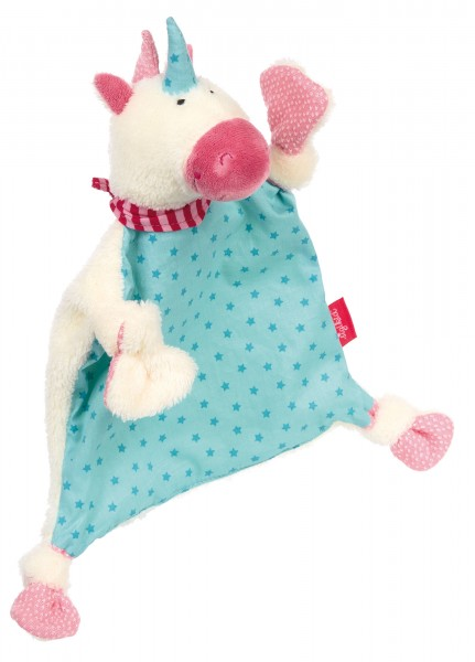 It's magic Baby Schnuffeltuch Einhorn blau
