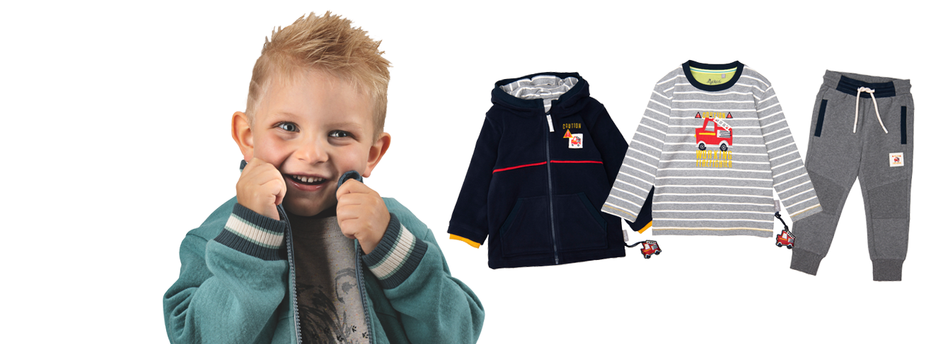 Fashion for boys aged 3 to 8 years
