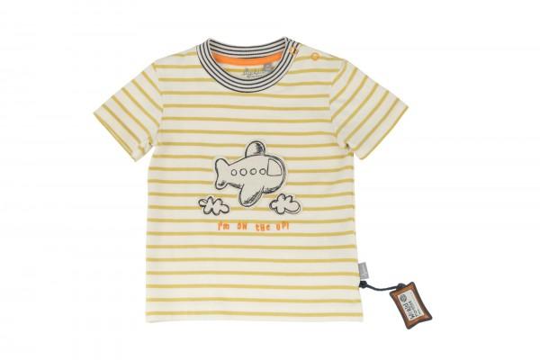 SIGIKID Gestreiftes Baby T-Shirt mit Flugzeug