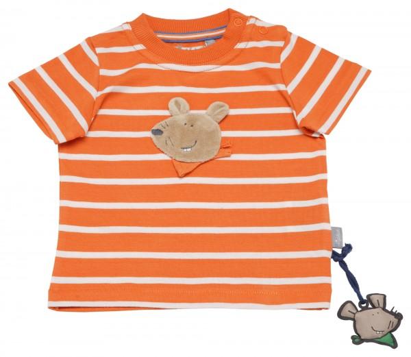 Gestreiftes Jungen T-Shirt mit Maus Motiv