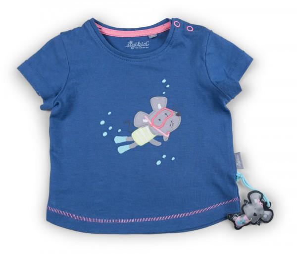 Blaues Mädchen T-Shirt mit Maus Motiv