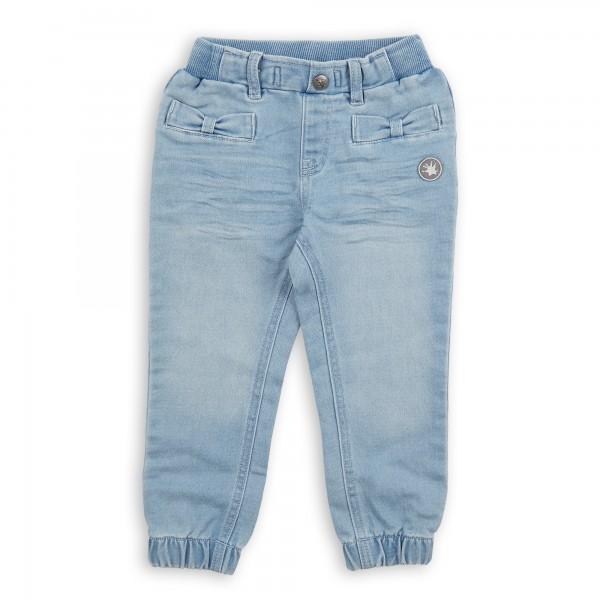 Helle Mädchen Jeans mit Beinbündchen