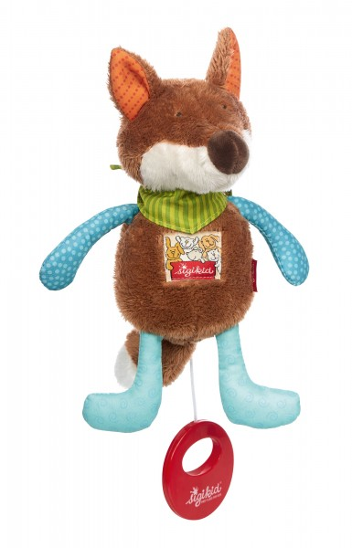 Musical soft toy fox