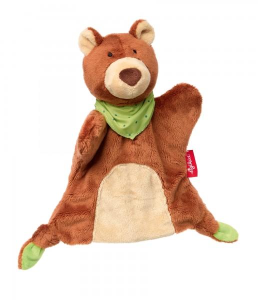 Handpuppen Schnuffeltuch Bär