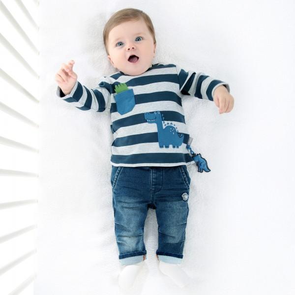 Baby Langarmshirt mit Dino Motiv