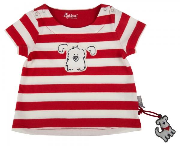 sigikid Kurzärmliges Baby T-Shirt in rot und weiß