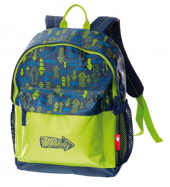 Kinder Rucksack blau-grün, Serie Arrows, 5,6l