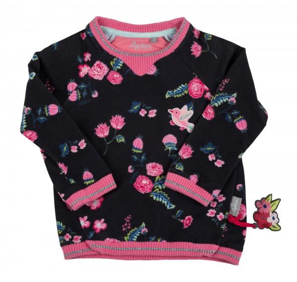 Mädchen Sweatshirt im Allover Blumen Print