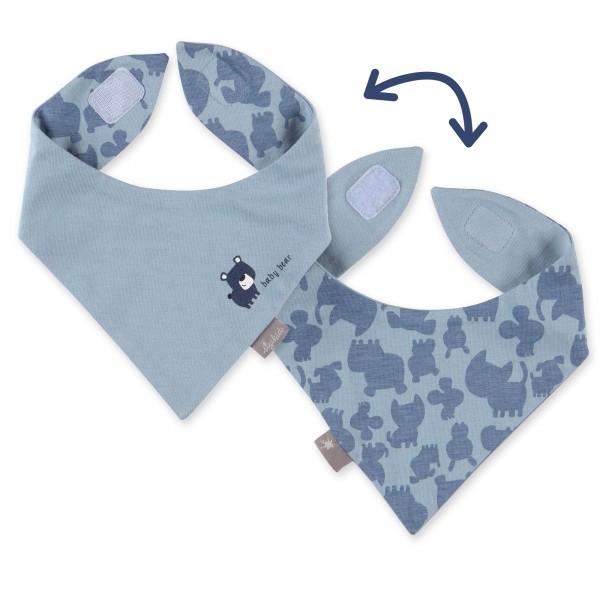 Blaues Baby Wendehalstuch