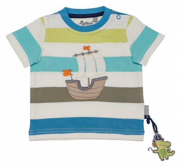 Streifenshirt mit Segeboot Motiv