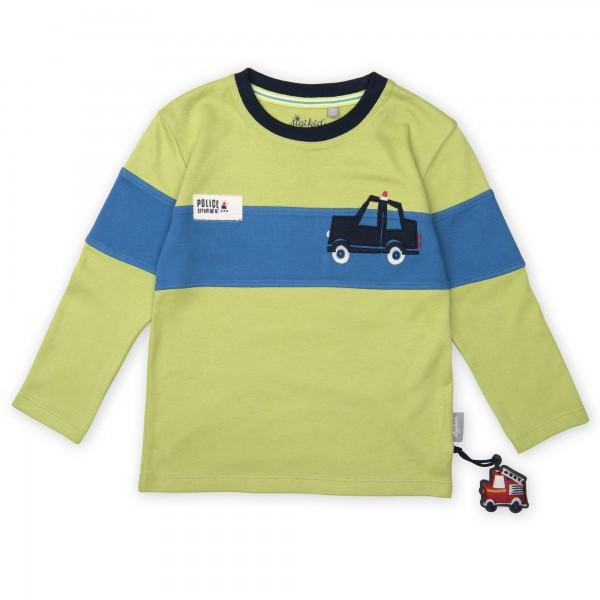Jungen Langarmshirt mit Auto Motiv