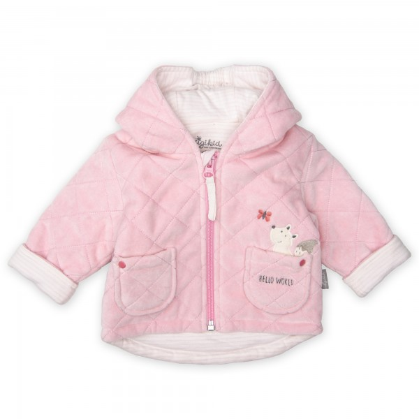 Flauschige Newborn Nickijacke in Rosa