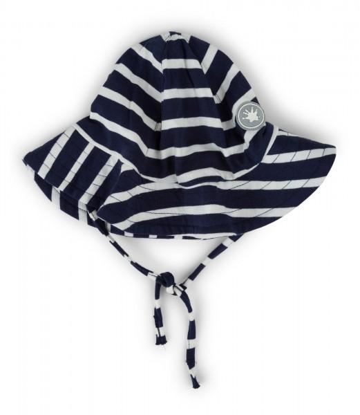 Mädchen Mütze blau-weiß gestreift