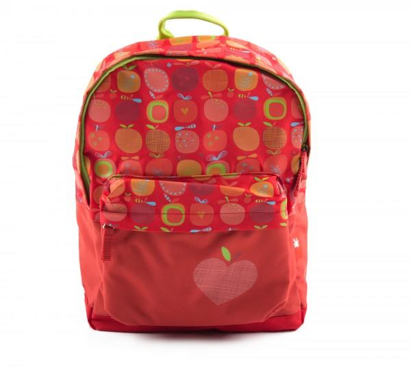 Kinder Rucksack rot, Serie Apfelherz, 7,4 Liter