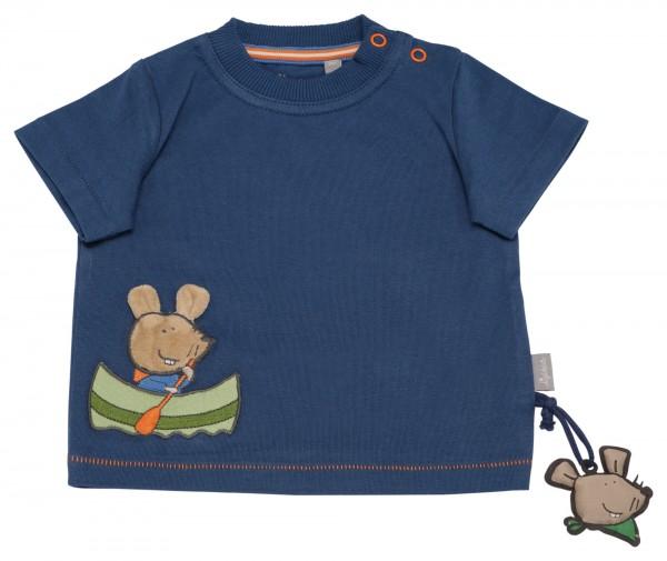 Blaues T-Shirt mit Maus im Boot Motiv