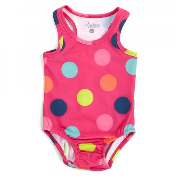 Baby Badeanzug mit bunten Punkten