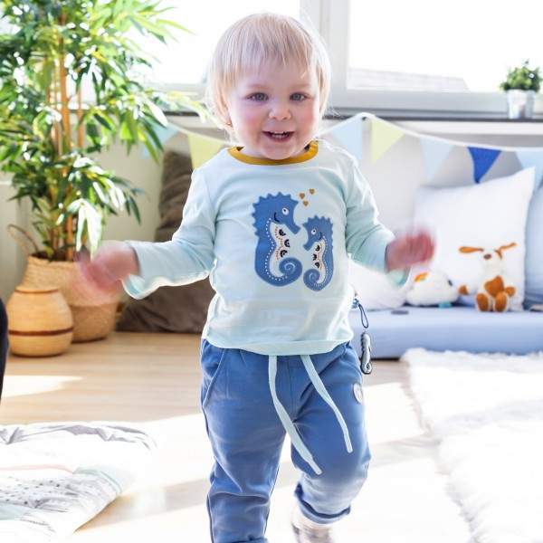 Baby girl long sleeve sea horses