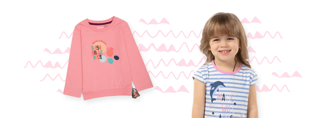 Fashion for girls aged 3 to 8 years