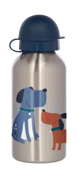 Edelstahl Trinkflasche Hund, Green Collection