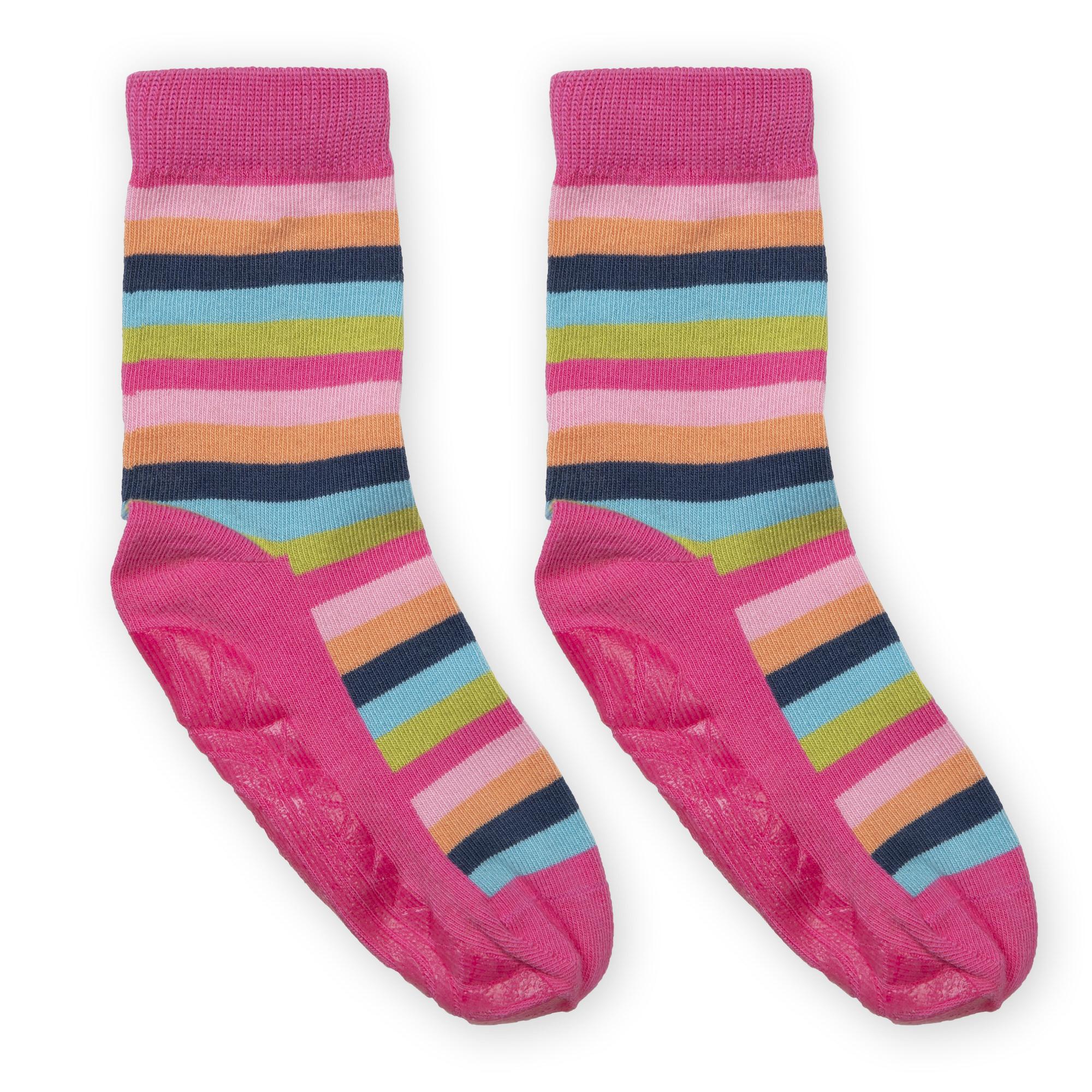 4dc10cdd3a489f Bunte Mädchen Anti Rutsch Socken