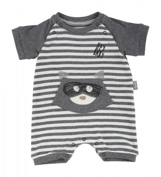 Baby Overall mit Waschbär geringelt