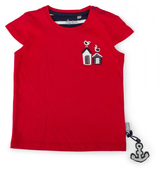 T-Shirt in leuchtend Rot