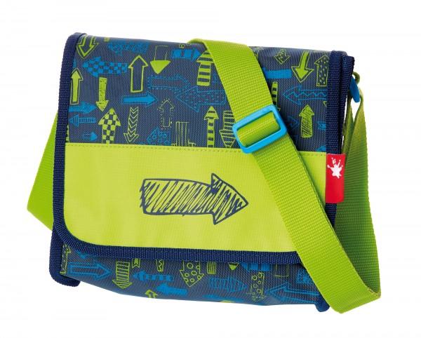 Kindergarten Tasche blau-grün mit Pfeilen